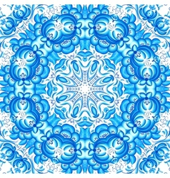Blue floral seamless pattern in gzhel style vector image vector image