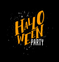 halloween party sign text vector image vector image