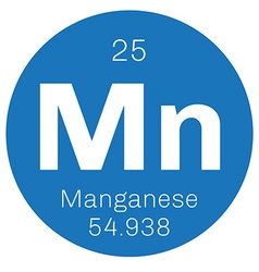 Manganese chemical element vector image
