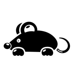 mouse icon simple black style vector image