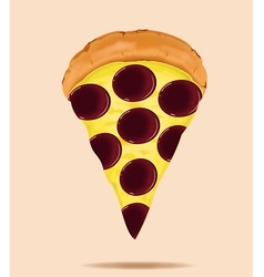 pepperoni is a popular pizza topping vector image vector image