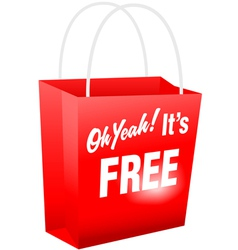retail giveaway oh yeah its free red shopping bat vector image