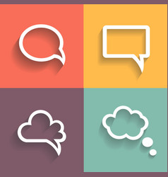 set different retro styled speech bubbles vector image