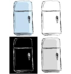 vintage fridge vector image vector image