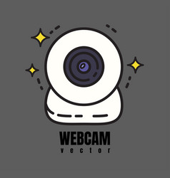 webcam icon vector image vector image