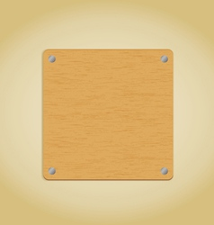 Wooden plate vector image vector image