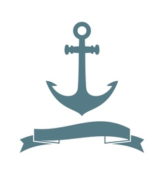 Anchor badge vector image vector image