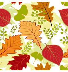 Colorful autumn seamless pattern vector image vector image