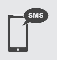 flat smartphone icon sms message vector image vector image