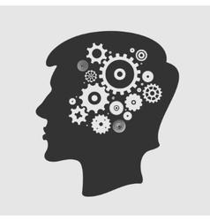 Head and Gears vector image vector image