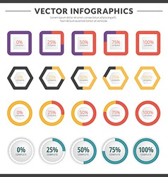 infographics and design elements with icon set for vector image vector image