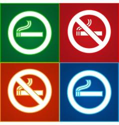 No smoking area labels vector image vector image
