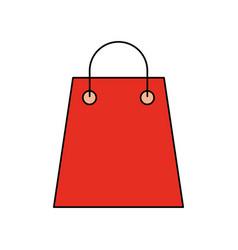 paper gift bag shopping commerce market vector image vector image