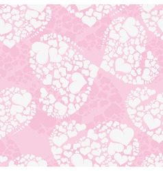 seamless love background from heart shaped butterf vector image vector image