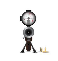 Sniper Killing and Bullet vector image