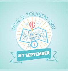 27 september world tourism day vector image