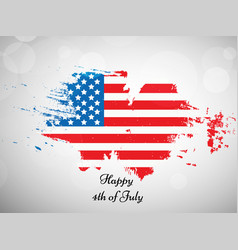 4th of july usa independence day vector image vector image