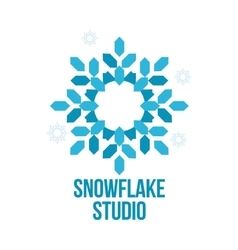 abstract snowflake logo templates vector image
