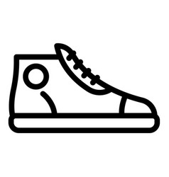 Adidas sneaker icon outline style vector