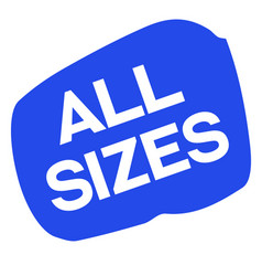 All sizes sticker vector