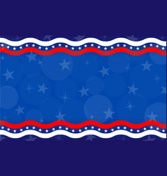 american abstract flag holiday banner background vector image