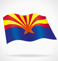 Arizona az state flag flying vector