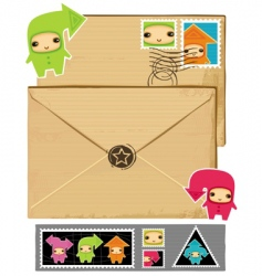 Arrows envelope vector