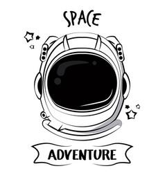 Astronaut adventure spirit printe for tshirt vector