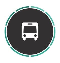autobus computer symbol vector image
