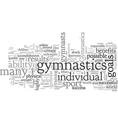 Benefits gymnastics vector