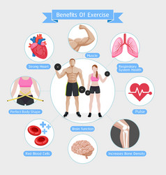 benefits of exercise diagram vector image