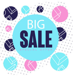 big sale special offer banner template design vector image