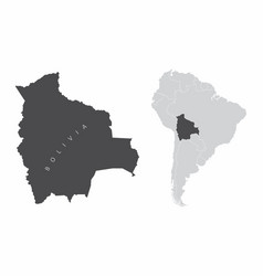 bolivia south america vector image