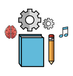 Book and objects design vector