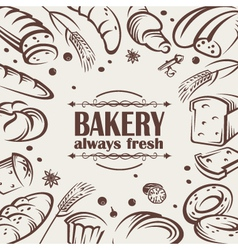 Bread background vector