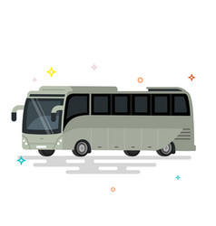 bus flat design public transport vector image