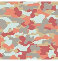 Camouflage seamless pattern in orange grey red vector