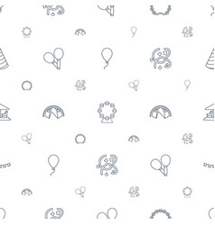 Carnival icons pattern seamless white background vector