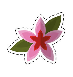 Cartoon flower tropical exotic icon vector