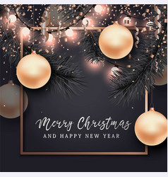 christmas and new year background for card vector image