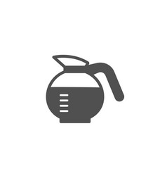 Coffeepot simple icon coffee drink sign vector