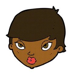 comic cartoon unimpressed woman vector image
