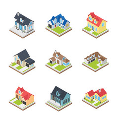 commercial buildings icons vector image