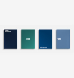 Creative colorful minimalistic covers templates vector
