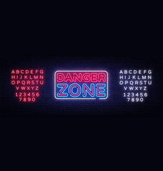 danger zone neon signs design template vector image