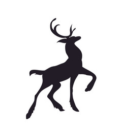 deer runs silhouette vector image