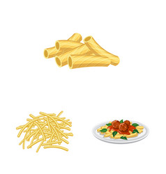 Design of pasta and carbohydrate logo vector