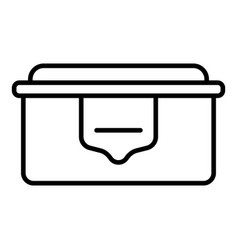 eco plastic lunchbox icon outline style vector image