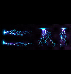 electric lightning strike impact place vector image
