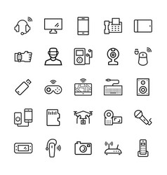 electronicsgadgets and devices icon set symbols vector image